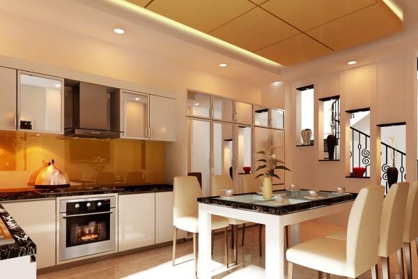 Thiết kế nội thất cho gia chủ mệnh kim với màu vàng