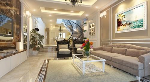 Thiết kế nội thất hoàng gia cho nhà 3 tầng diện tích 80m2