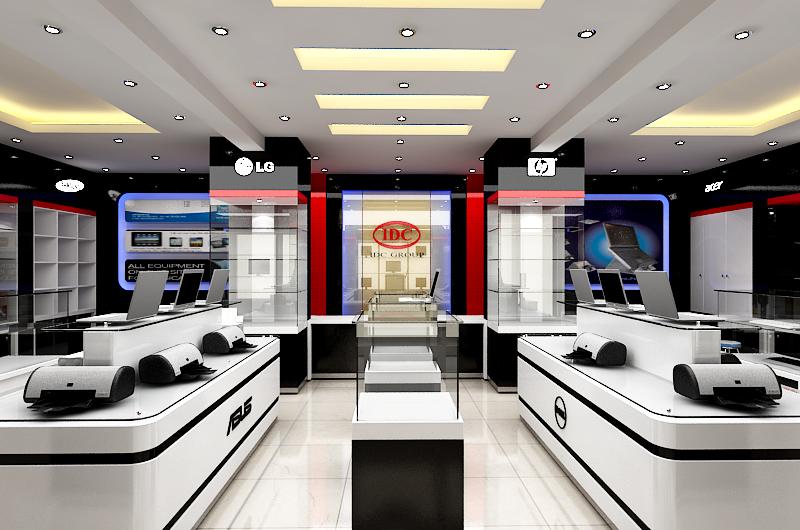 Kết quả hình ảnh cho Thiết kế thi công showroom máy tính